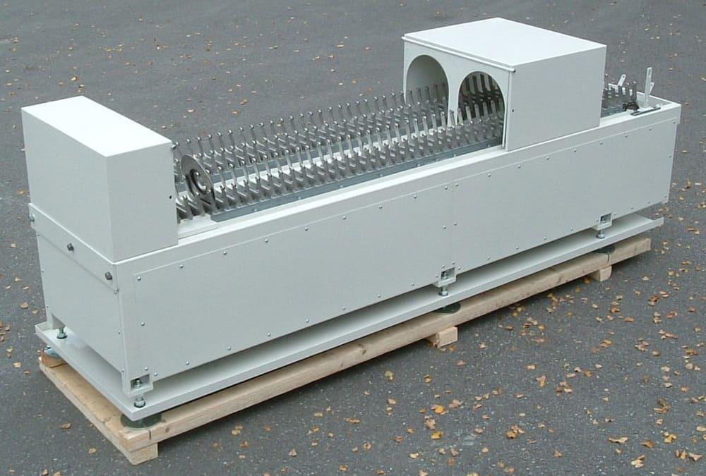 Fächerförderer zum Transport von Stahlronden